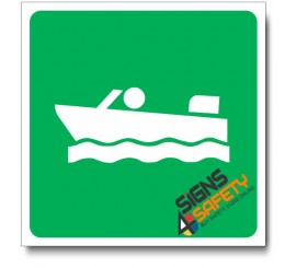 (IN65) Boating Sign