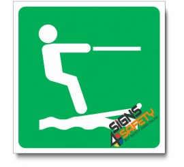 (IN67) Water Skiing Sign