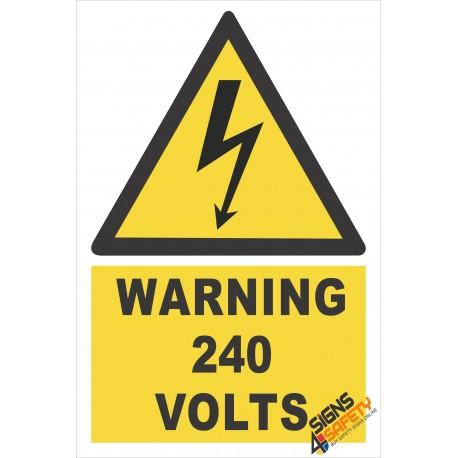 (EW21) Warning 240 Volts Sign