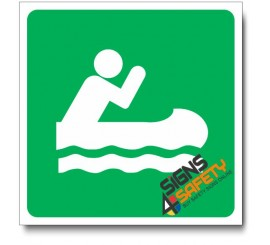 (IN73) Canoeing Sign
