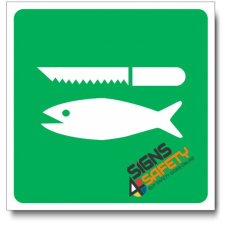 (IN76) Fish Cleaning Sign