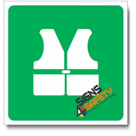 (IN77) Safety Jacket Sign