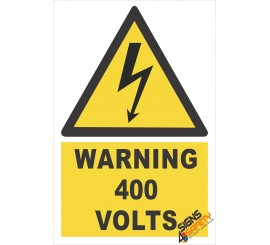 (EW22) Warning 400 Volts Sign