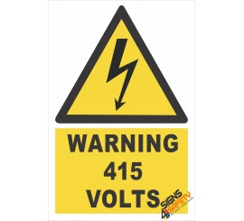 (EW23) Warning 415 Volts Sign