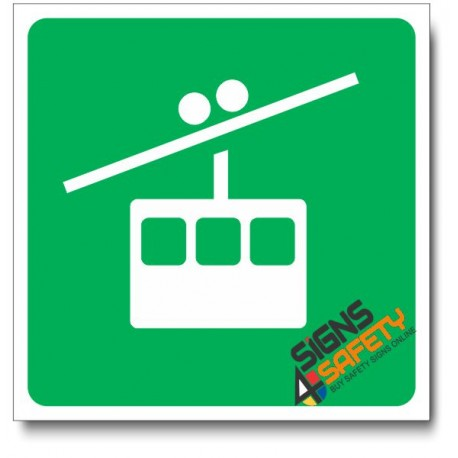 (IN96) Cable Car Sign
