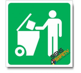 (IN100) Refuse Collection Sign
