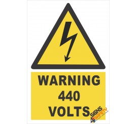 (EW24) Warning 440 Volts Sign