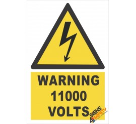 (EW26) Warning 11000 Volts Sign