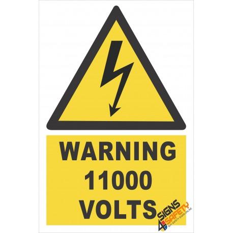 (EW26) Warning 11000 Volts Sign