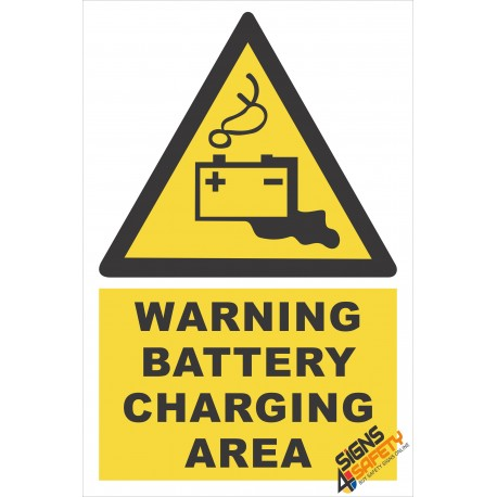 (EW31) Warning Battery Charging Area Sign
