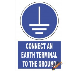 (EM3) Mandatory Connect An Eath Terminal To The Ground Electrical Sign