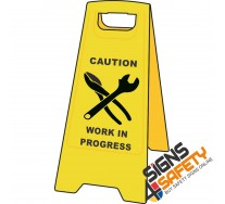 (A-F8) Caution Work In Progress - Floor Stand