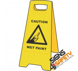 (A-F9) Caution Wet Paint - Floor Stand