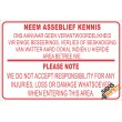 (NR2) Neem Asseblief Kennis / Please Note Disclaimer Sign