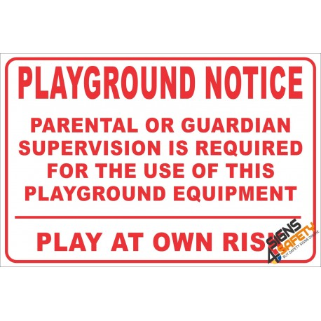 (NR25) Children's Playground Notice Sign