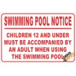 (NR26) Swimming Pool Notice Sign