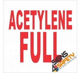 (G1) Acetylene Full Gas Sign