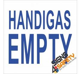 (G4) Handigas Empty Sign