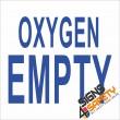 (G6) Oxygen Empty Sign