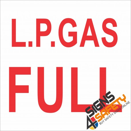 (G9) L.P. Gas Full Sign