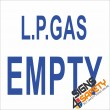 (G10) L.P. Gas Empty Sign