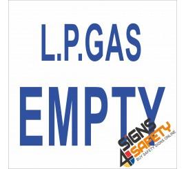(G10) L.P. Gas Empty Sign