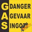 (G13) Gas Danger / Gas Gevaar / Gas Ingozi Sign