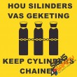(G14) Keep Gas Cylinders Chained Sign