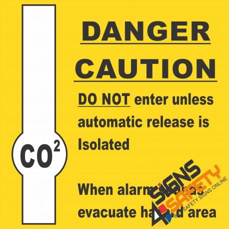(G15) Co2 Danger Sign