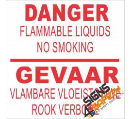 (G16) Danger Flammable Liquids Sign