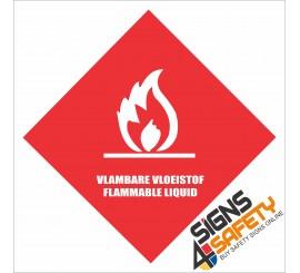 (G18) Flammable Liquids Sign