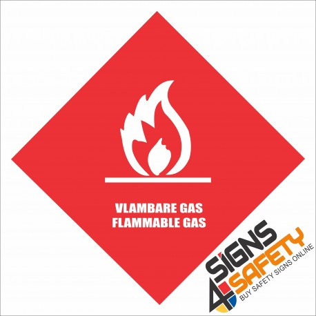 (G19) Flammable Gas Sign