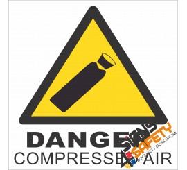 (G24) Danger Compressed Air Sign