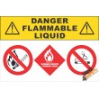 (G20) Danger Flammable Liquids Sign