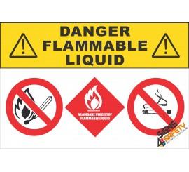 (G20) Danger Flammable Liquids Sign