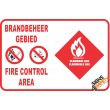 (G26) Fire Control Area / Flammable Gas Safety Sign