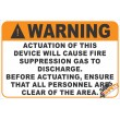 (G29) Warning Fire Suppression Safety Sign