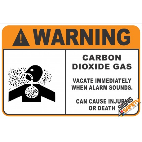 (G34) Warning Carbon Dioxide Gas Safety Sign