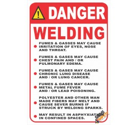(G32) Welding Health Dangers Safety Sign