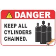 (G36) Keep Cylinders Chained Safety Sign