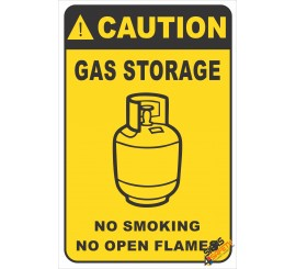 (G39) Caution Gas Storage Safety Sign