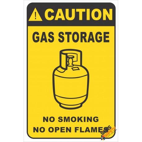 (G39) Caution Gas Storage Safety Sign