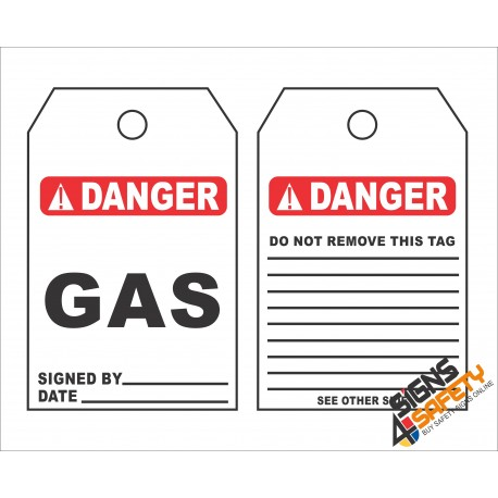 (GT1) Danger Gas Safety Tag