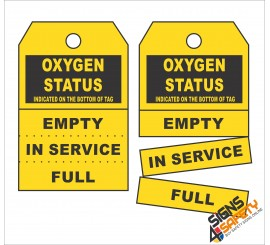 (GT2) Oxygen Status Safety Tag