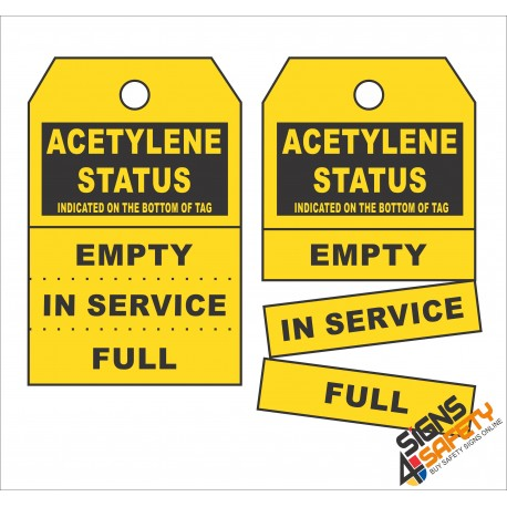 (GT4) Acetylene Status Safety Tag