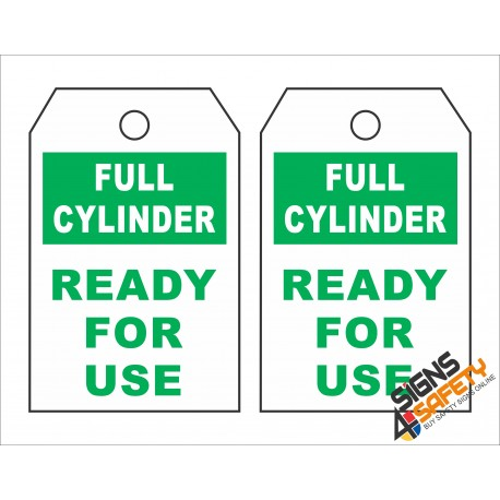 (GT8) Full Cylinder Safety Tag