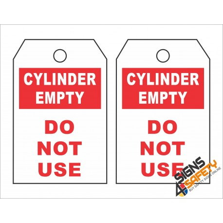 (GT9) Empty Cylinder Safety Tag