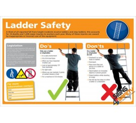 (LS2) Ladder Safety Rules Sign / Ladder do's and don'ts Sign