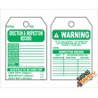 (ST8) Scaffolding Erection & Inspection Record Safety Tag