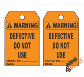 (ST10) Warning Scaffolding Defective Do Not Use Safety Tag